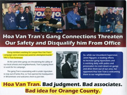 You knew it was coming! Democratic Supervisorial candidate Hoa Van Tran got slammed in a new mailer by Supervisor Janet Nguyen for his cholo connections (see graphic above). I saw […]