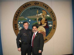 Jose Solorio and SAPD Chief Paul Walters