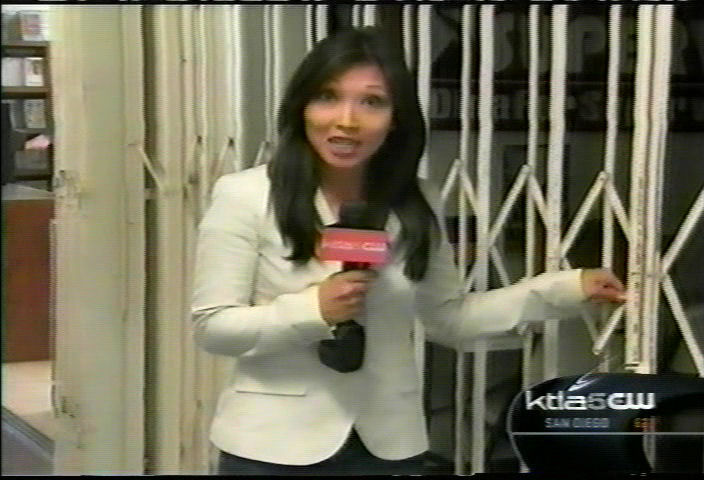 The KTLA reporter could not find Dina