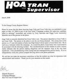 Letter from Edgardo Reynoso to the O.C. Register