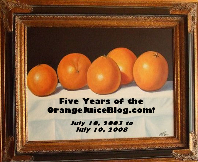 Can you believe it? Five years ago today I started the Orange Juice blog. It used to be just me, ranting from the right, back when I was a Republican […]