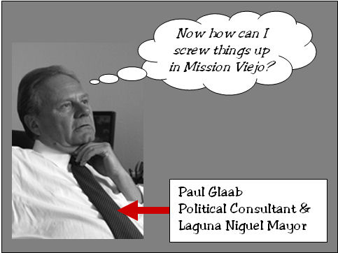 "While candidates are still pulling papers, the first ""hit piece"" in the 2008 Mission Viejo city council race is now being drafted. Laguna Niguel Mayor Paul Glaab, who is also […]"