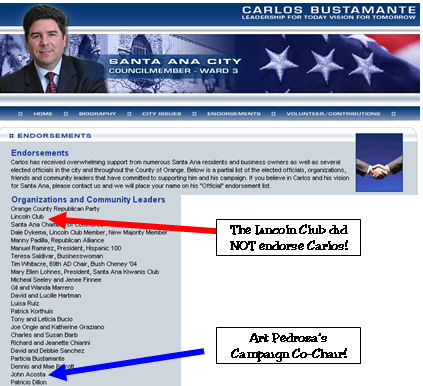What can you say about a politician who is apparently so lazy and so dishonest that he doesn't bother to update the endorsements on his campaign website?  One of my […]