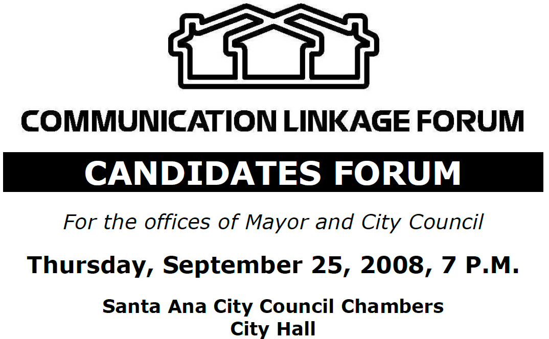 The first Santa Ana City Council candidate's forum will take place on Thursday at the City Council chambers, at 7 p.m. The event is free to attend. It is presented […]