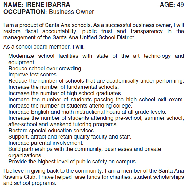 There are quite a few candidates this year for three spots on the Santa Ana Unified School District's Board of Education. The O.C. Voter Registrar has finally put up all […]