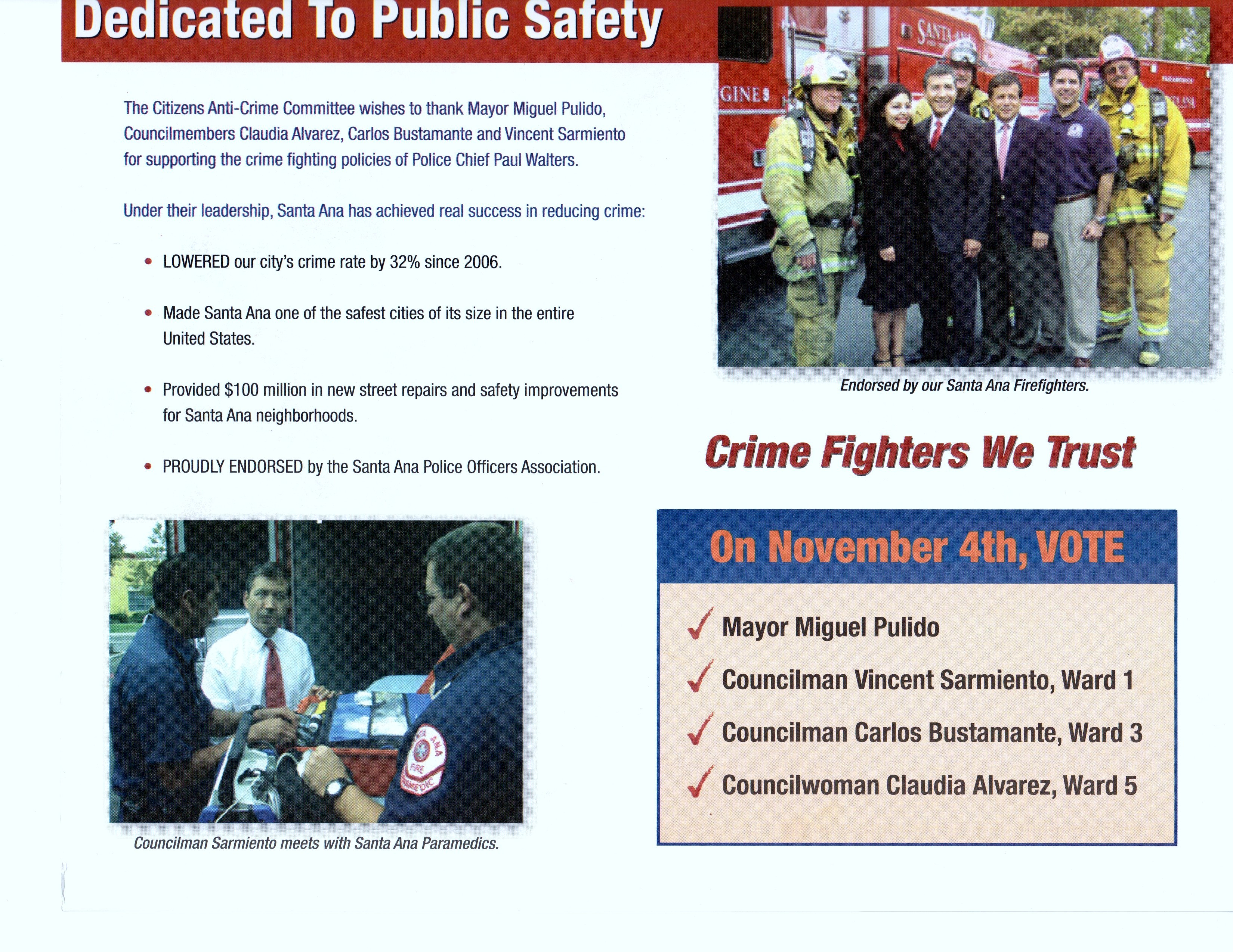 Will Santa Ana Mayor Miguel Pulido and his cronies on the City Council succeed in lying to the people of Santa Ana? Today's mail included another mailer that was chock […]