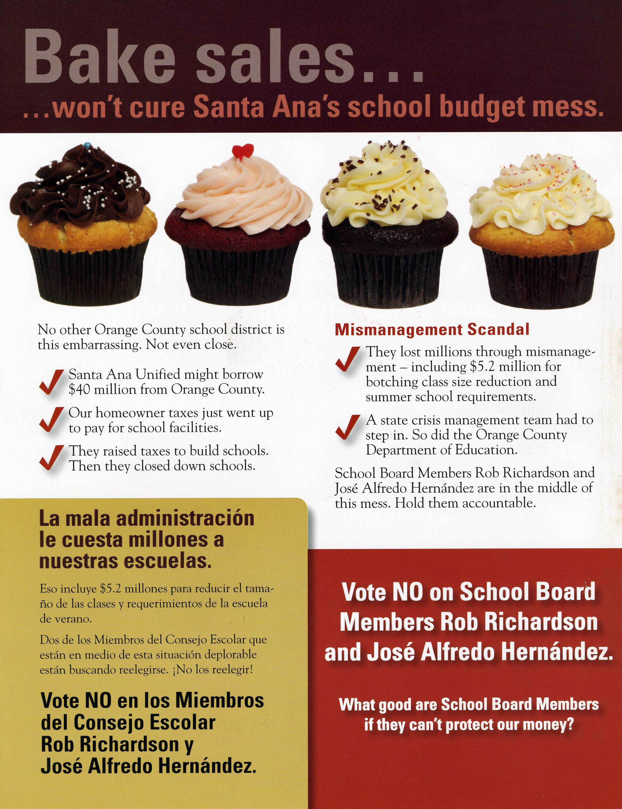 SAUSD School Board candidates Rob Richardson and Jose Hernandez took another direct hit today as Planned Parenthood unleashed another negative mailer, highlighting the SAUSD School Board's poor record over the...