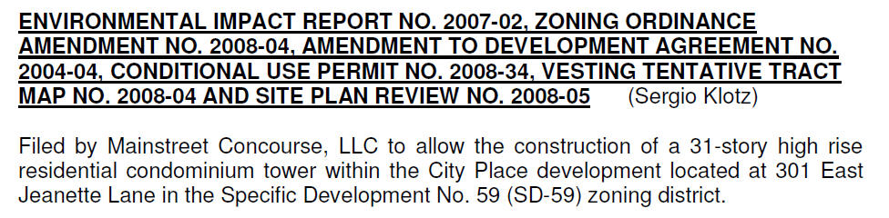 The Santa Ana Planning Commission will be conducting a public hearing tonight, at 5:30 pm, to consider the proposed 31 story Bisno Tower, which is supposed to be built near […]