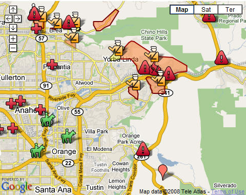 O.C. Triangle Complex Fire Update | Orange Juice Blog