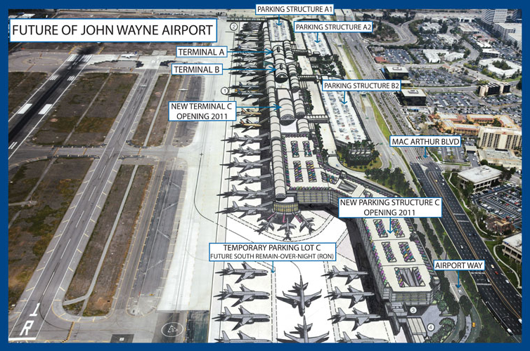 """Airports across the country are shelving or downsizing planned expansions because of a sharp drop in passengers, yet John Wayne Airport in Orange County is proceeding with a $652-million terminal […]"