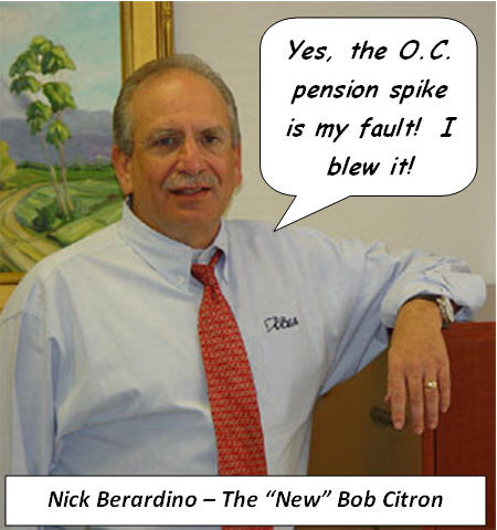 O.C. Supervisor John Moorlach absolutely hammered Nick Berardino, the head of the O.C. Employees Association (OCEA) in his December newsletter, according to the Pension Watch blog. Moorlach has fingered Berardino […]
