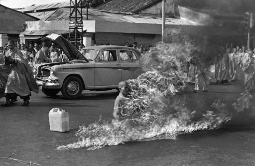 Quang Duc, a Buddhist monk, burns himself to death on a Saigon street June 11, 1963 to protest alleged persecution of Buddhists by the South Vietnamese government. The Trannies and […]