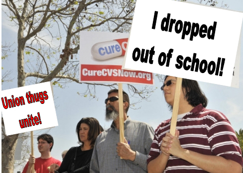 """What a bunch of hackish union thugs! """"Dozens of protesters rallied Thursday outside a CVS pharmacy in downtown Santa Ana, their grievances against the drugstore giant summed up by an […]"""
