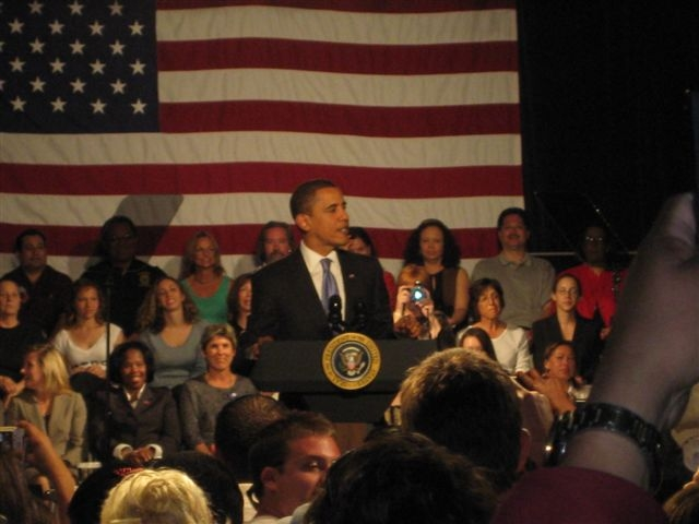 President Barack Obama wowed the crowd at the Orange County Fairgrounds today. I heard that the first local elected official he introduced was Santa Ana Mayor Miguel Pulido. Interesting. I […]