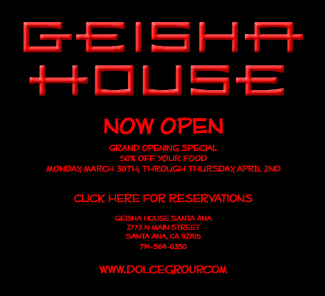 Oh boy! Santa Ana finally has something to celebrate as the Geisha House restaurant, located at the CityPlace, is now open. Click on the graphic below for a great deal […]