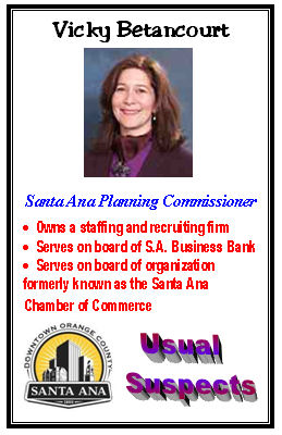 Has Santa Ana Planning Commissioner Vicky Betancourt lost her mind? She voted at today's Santa Ana Planning Commission meeting against a proposed Marriott Courtyard Hotel, which was supposed to be […]