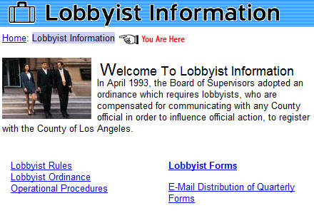 UPDATE: One of our readers has launched a new O.C. lobbyist database. Click here to check it out. Lobbyists have had the run of Orange County for far too long. […]