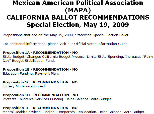 Who would have thunk it? Nativo Lopez sent out a mass email today, to his Mexican American Political Association (MAPA) email list, asking them to vote against all of Governor […]