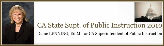 Diane Lenning has announced her candidacy for California Superintendent of Public Instruction 2010. Please leave your comments here for Diane Lenning. She is reading this and she wants to hear […]