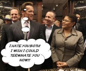 Arnold Schwarzenegger versus Darrell Steinberg and Karen Bass