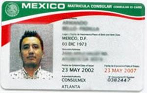Matricular Consular Card