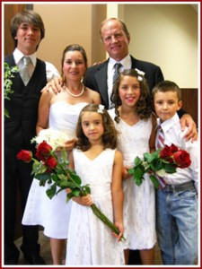 Chris Norby and his family
