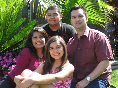 Hugh Nguyen and his family