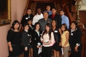 Lou Correa and UCI students