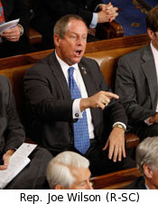 Who was that Jerk yelling Liar at Obama?  Joe Wilson (R-SC)
