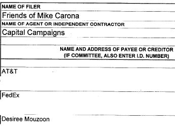 Desiree Mouzoon worked for Mike Carona