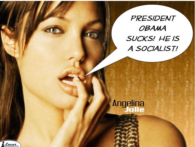 Angelina Jolie and Barack Obama