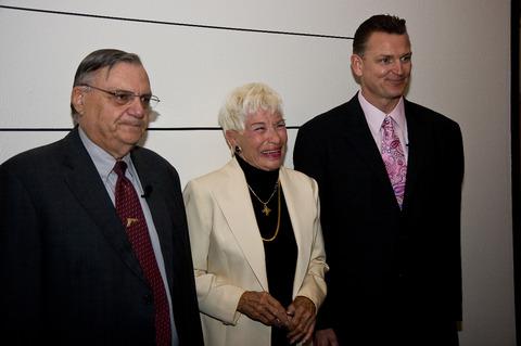 Bill Hunt, Joe Arpaio and Barbara Coe