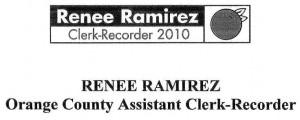 Renee Ramirez for Clerk Recorder