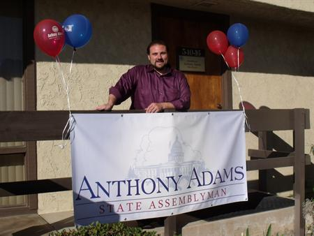 """Assemblyman Anthony Adams has reason to celebrate after beating Mike Schroeder's recall effort """"The Orange County-based effort to recall Assemblyman Anthony Adams, R-Hesperia, has been abandoned as proponents have decided […]"""