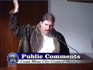 Despite the fact I willfully and deliberately asked members of the audience to stand up during the February 7, 2006 meeting of the Costa Mesa City Council, no criminal charges were ever filed against me.