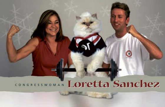 Loretta Sanchez Christmas Card 2003