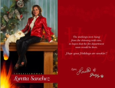 Loretta Sanchez Christmas Card 2004