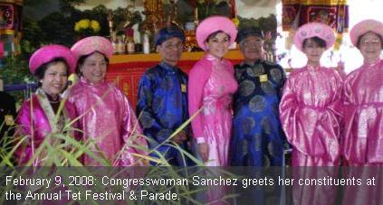 Loretta Sanchez dresses up for Tet
