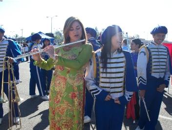 Loretta Sanchez plays the flute