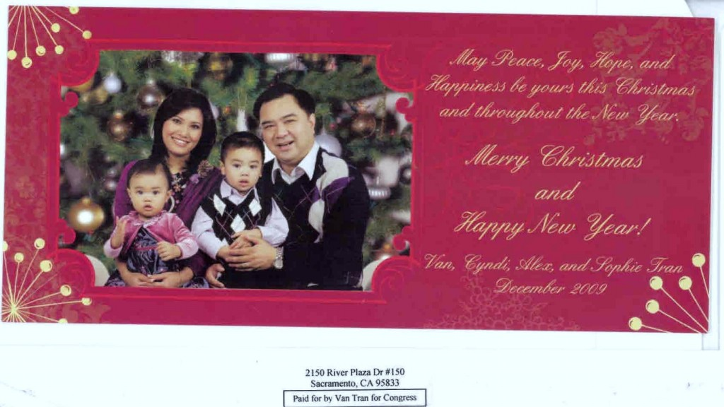 Van Tran dips into his campaign fund to mail his Glamour Shot ...