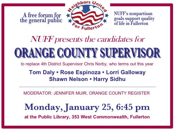 "[poll id=""254″] Will Tom Daly show up to the 4th Supervisorial District this Monday?  All of the candidates to replace Chris Norby are supposed to be there.  But rumor has […]"