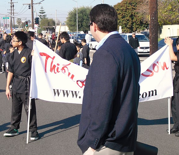 Allan Mansoor was all alone, and uncomfortable, at this year's Tet Parade, in Little Saigon I wrote a post back in February wondering if OC Board of Education Trustee Long...