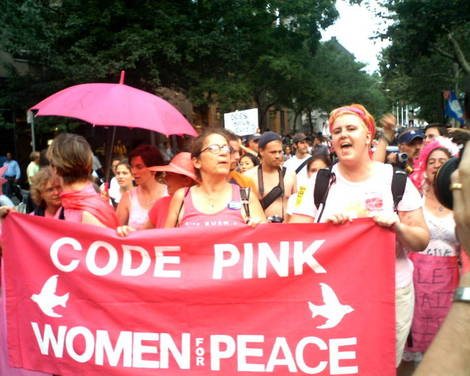 Code Pink will be protesting our wars tomorrow, Wednesday, February 17, from5:30pm – 7:00pm, at theOrange Circle, at Chapman and Glassell. There is ample free parking, but leave early to […]