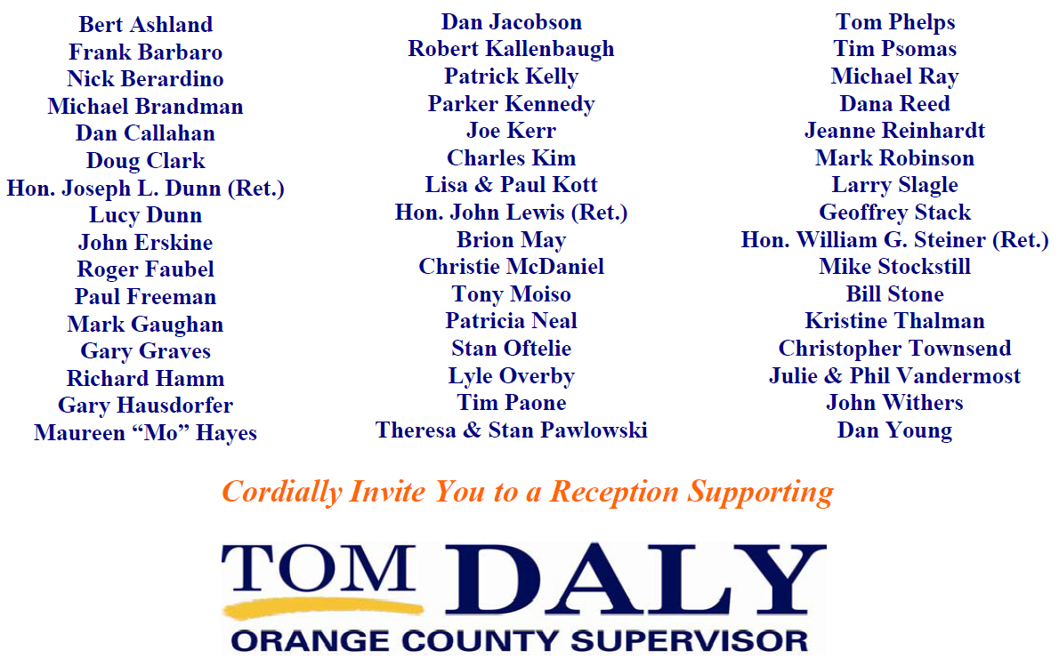 Career Democratic politician Tom Daly is having another fundraiser on Feb. 25, but what is more interesting is the absolute lack of Latinos on his campaign committee. The 4th Supervisorial […]