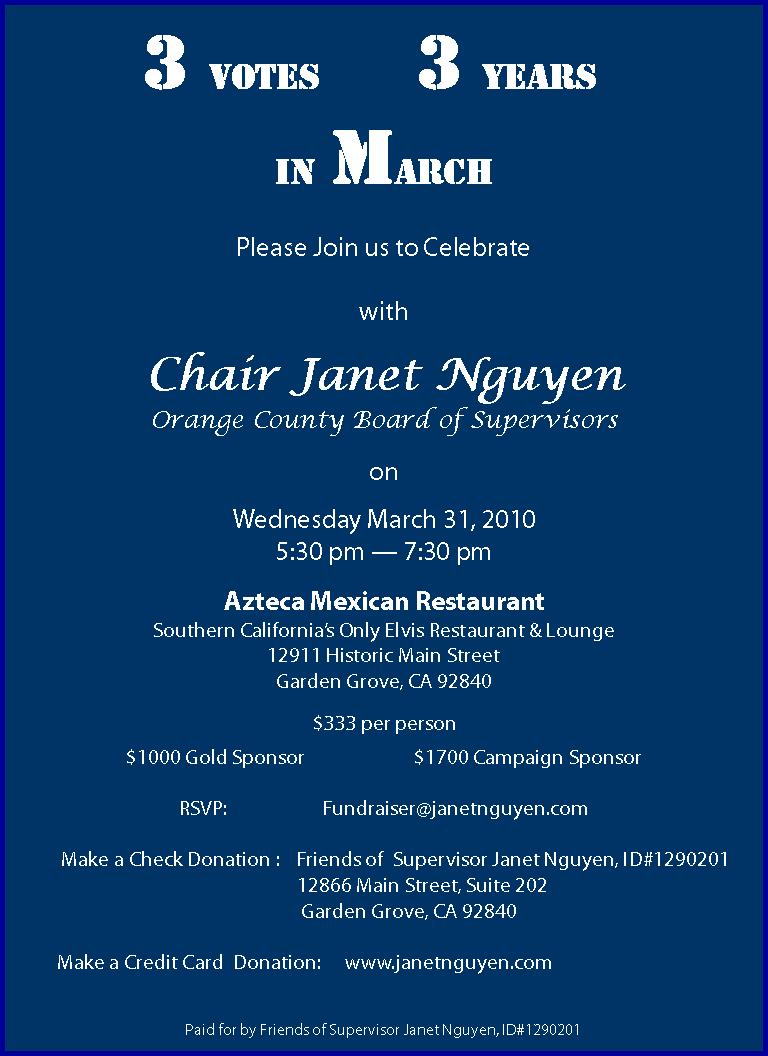 March 26 is a date that will forever live in infamy. Three years ago, on March 26, 2007, Janet Nguyen won a seat on the O.C. Board of Supervisors, by […]