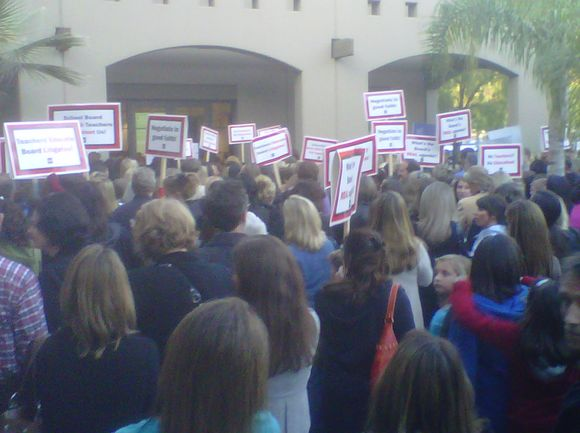 Picture courtesy of the Beyond the Blackboard blog The Beyond the Blackboard blog reported that as many as 400 people, including some children, showed up at last night's meeting of […]