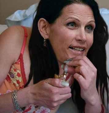 Girl Smoking Crack Pipe