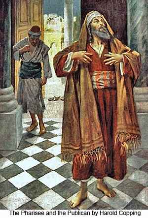 pharisee and tax collector clipart
