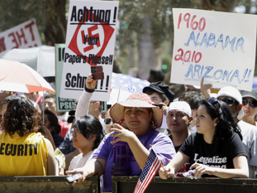 CNN is reporting, as seen in the video above, that the Arizona racial profiling law, SB 1070, has backfired. Businesses are suffering and cannot find workers. Losses are estimated to […]