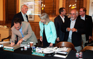 OC Parks Commissioners sign a binder filled with documents associated with the proposed gift. Commissioners pictured are, from left, Stephan Andranian, Dick Davenport, Trish Kelley, Matt Cunningham, Chair Bert Ashland […]